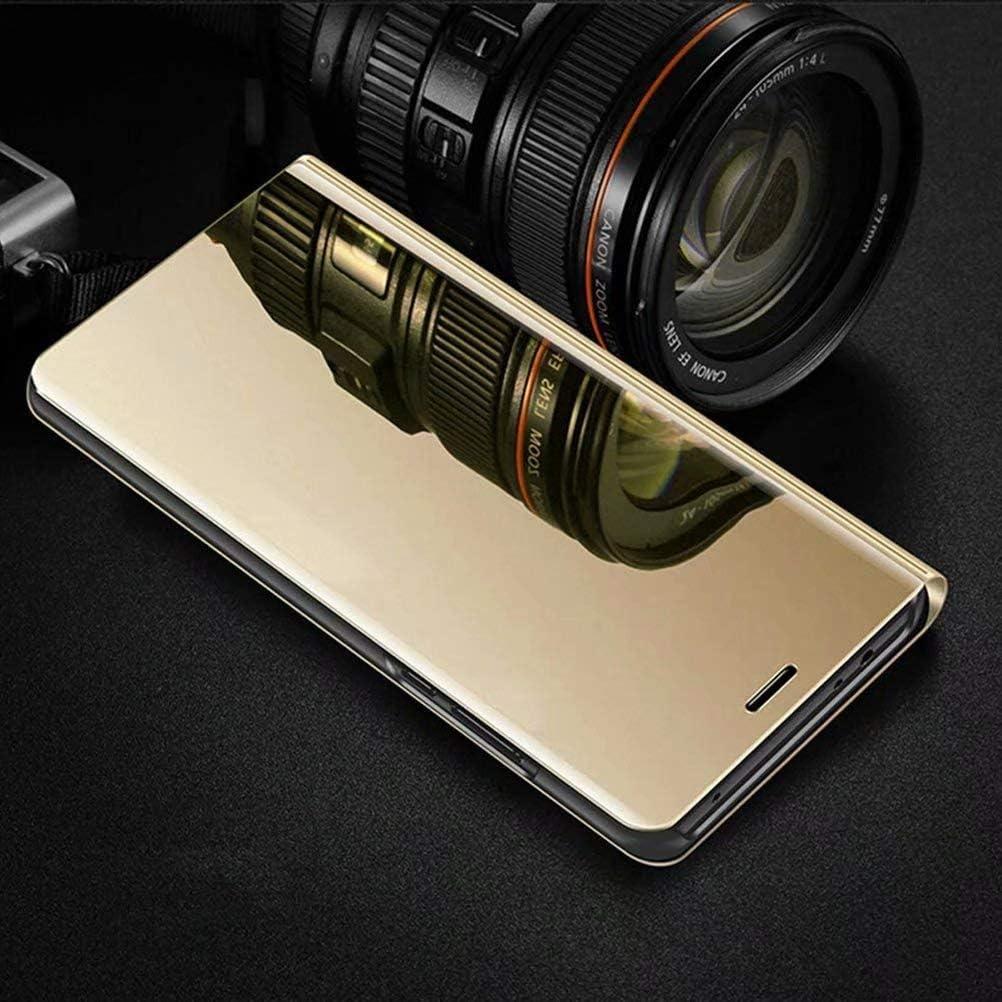 Wuzixi Funda para Xiaomi Redmi 9 Caso Duro con del sue/ño//Despierte Funci/ón.Azul Espejo de la galjanoplastia Ultra Delgado Funda Cuero Flip Inteligente Case