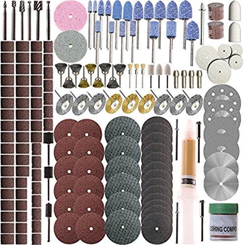 SHINA - Set de 217 accessoires pour outil rotatif – Dremel – Meulage, polissage
