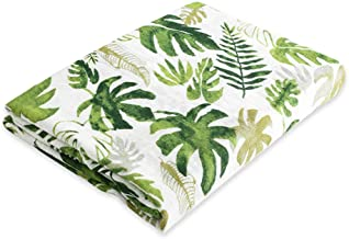 Jiquan Baby Muslin Swaddle Blankets for Boys and Girls, Organic Bamboo Swaddle Wrap Receiving Blankets, Super Soft, Breathable and Comfortable, Ideal Baby Shower Gift, 47 x 47 inches (Rainforest)