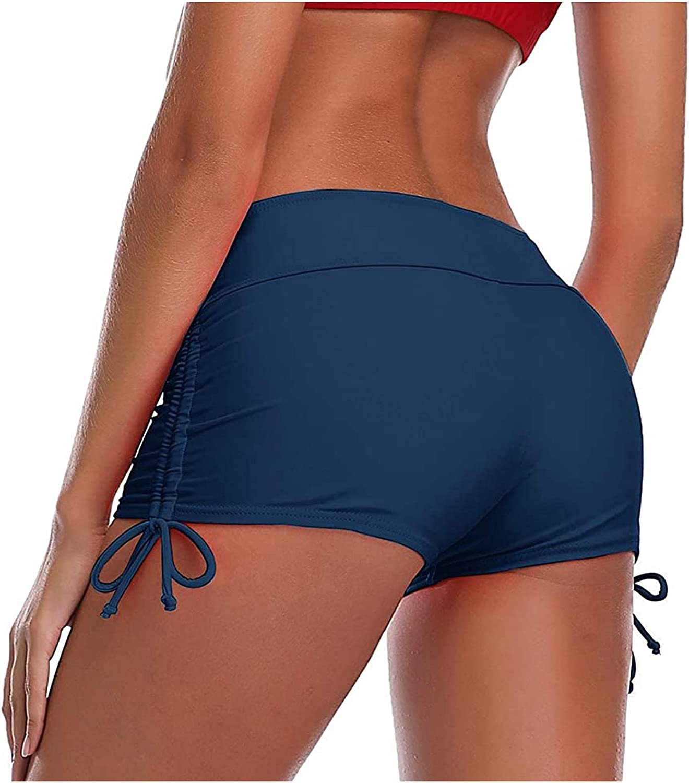 YALFJV High Waisted Swim Bottoms for Women Swim Shorts Stretch Board Shorts Bikini Swimsuit Bottoms Boy Shorts Swimming Panty