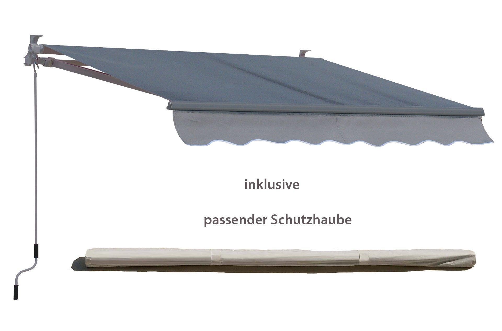 Grasekamp Toldo 200 x 150 cm Gris con Carcasa Toldo Protector ...