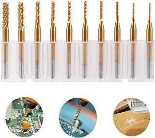 Farwind 5 piezas, 2, 2//3//4//5//6 mm, herramienta CNC Molinillo de fresado de titanio HSS