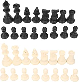 32 Pieces International Chess Pieces Set Plastic Replacement Complete Chess Figures Standard Tournament Chess Game Board G...
