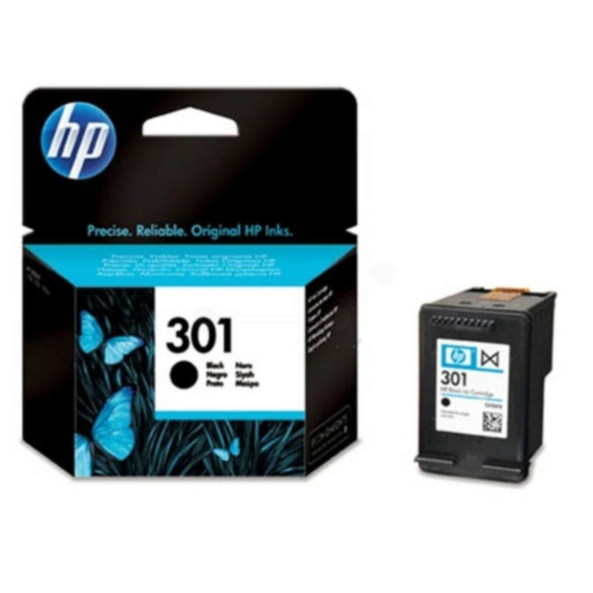 HP 301 Black Ink Cartridge - Cartucho de tinta para impresoras (Negro, 20-80%, -40-60 °C, Negro, 15-32 °C, 20-80%): Amazon.es: Oficina y papelería