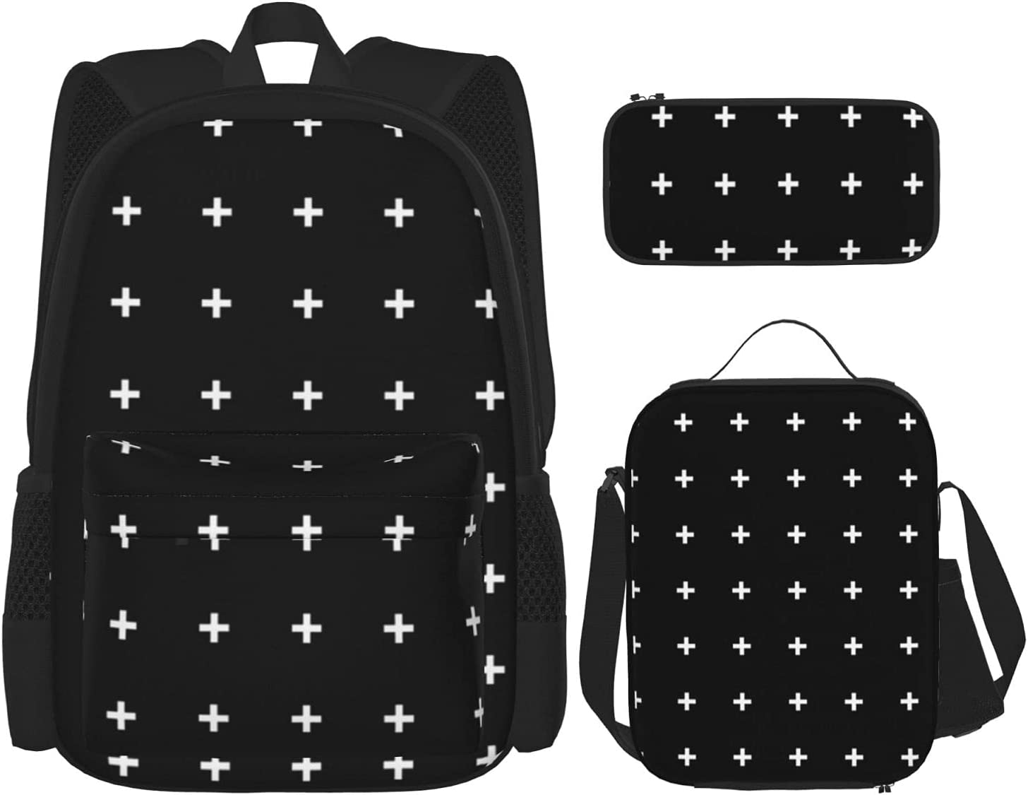 White Cross Backpack with Insulated Case Bo Box Pencil Lunch Ranking TOP17 Max 48% OFF