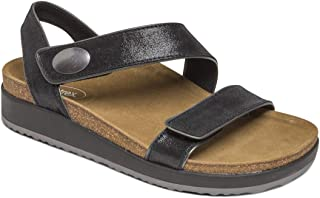 Camila Womens Leather Quarter Strap Orthotic Sandals