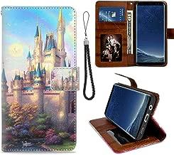 Wallet Case Compatible for Samsung Galaxy S8 Plus [6.2 Inch] Cinderellas Castle Fantasy Hd New Painting