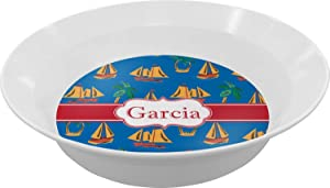 Boats & Palm Trees Dinner Set - 4 Pc (Personalized)