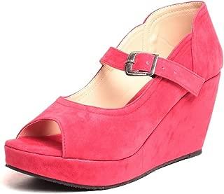 Feel it Comfortable Leatherite Casual/Formal Wedges Footwear for Women & Girls - g-990-black-P (Black)