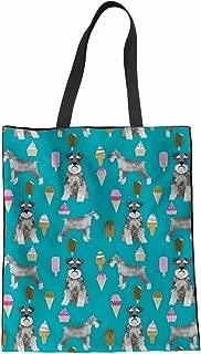 Coloranimal Women's Canvas Shoulder Handbag Cute Animal Dog Printed Tote Bag