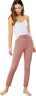 SheIn Women's Pajamas Set Rib Knit Cami Lounge Set Sleepwear PJ Set
