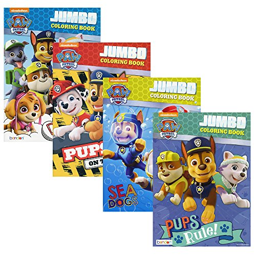 Nickelodeon 4-Pack Paw Patrol Jumbo 96-Page Coloring and Activity Books