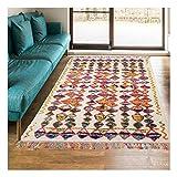 Alfombra estilo bereber 80 x 150 cm, rectangular Berber Tribal MK 01 multicolor, para habitación con calefacción por suelo radiante