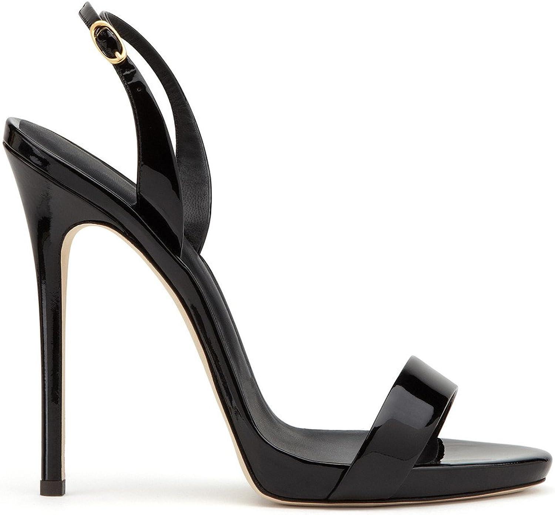 High Heels Sandals Women Stiletto Heel Classic Court shoes Pump Peep Toe Ladies Sexy shoes,EU38-41,Black,EU41