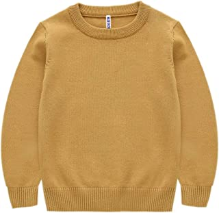 OUY Suéter Tipo Sudadera para niños Súper Caliente suéter de Punto de géneros de Punto Muchacho Suave Tela marrón Color de...