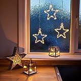 LED Stern Fensterdeko Weihnachtsdeko Timer Batteriebetrieb Lights4fun - 2