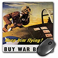 3droseヴィンテージKeep Him Flying Buy War Bondsポスターマウスパッド( MP _ 149428_ 1)