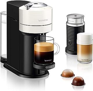 De'Longhi Nespresso Vertuo Next ENV 120.WAE - Cafetera de cápsulas con espumador de leche Aeroccino, color blanco