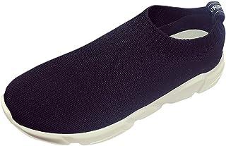 ランニングシューズ スニーカー レディース メンズ ジョギングシューズ 運動靴 軽量 防水 通学靴 [春の屋] 女性のアスレチックウォーキングメッシュファブリックファッションスニーカー通気性のランニングシューズ
