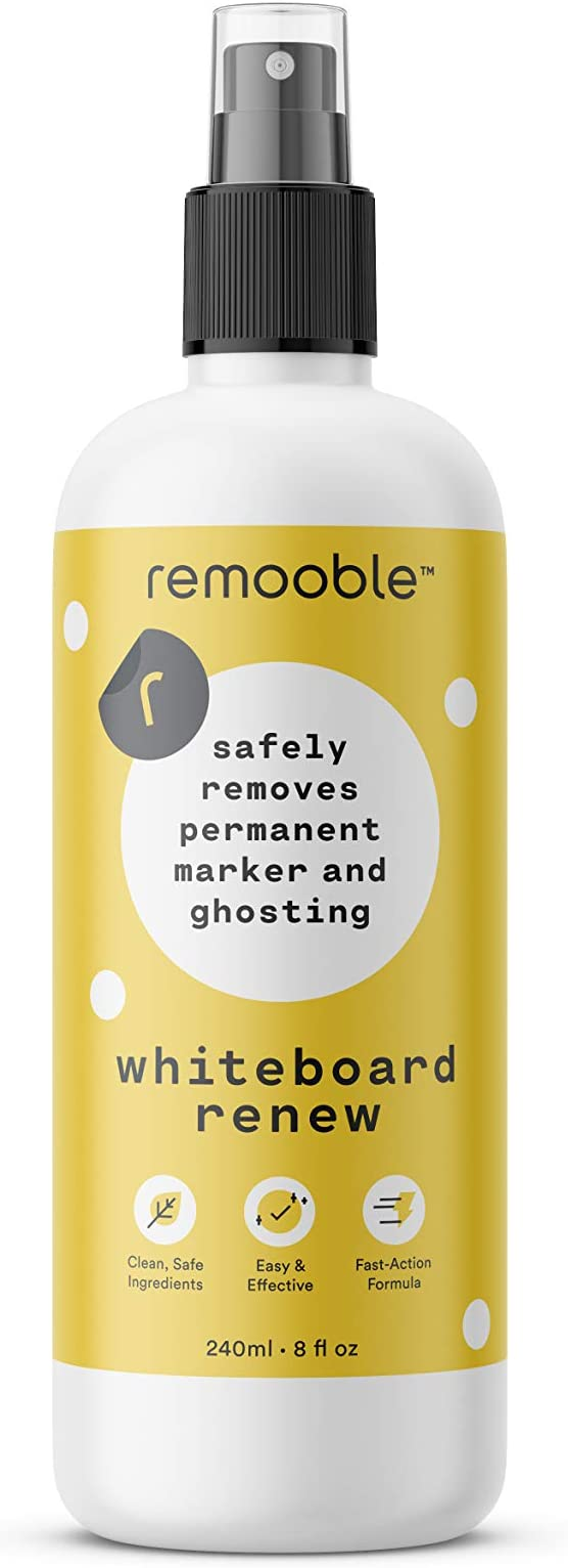 Amazon.com : Remooble Dry Erase Whiteboard Cleaner - Safely Removes Permanent Marker and Ghosting, 8 oz. : Office Products