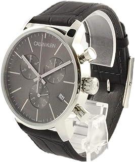 [カルバンクライン]Calvin Klein 【時計収納BOX付き!】メンズ CITY シティ クロノグラフ 43mm ダークグレー文字盤 ブラックレザー K2G271C3 腕時計 [並行輸入品]