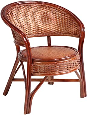 Balcony Wicker Chair Natural Rattan Knit Chair Single Chair Coffee Chair Ventilation Seat Home Leisure