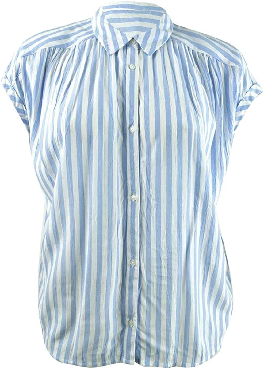 Lucky Brand Women's Short Sleeve Stripe Shirt