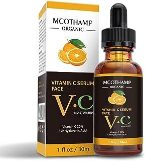 Vitamin C Serum for Face, Hyaluronic Acid & Vitamin E - 30ML Natural & Organic Anti Wrinkle Whitening Instant Moisturizers for All Skin - Anti Aging Facial Serum