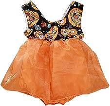 Mayunn Toddler Baby Boys Girls Cotton Halloween Pumpkin Long Sleeve Princess Dress Outfits Set Clothes (12Months-6Years)