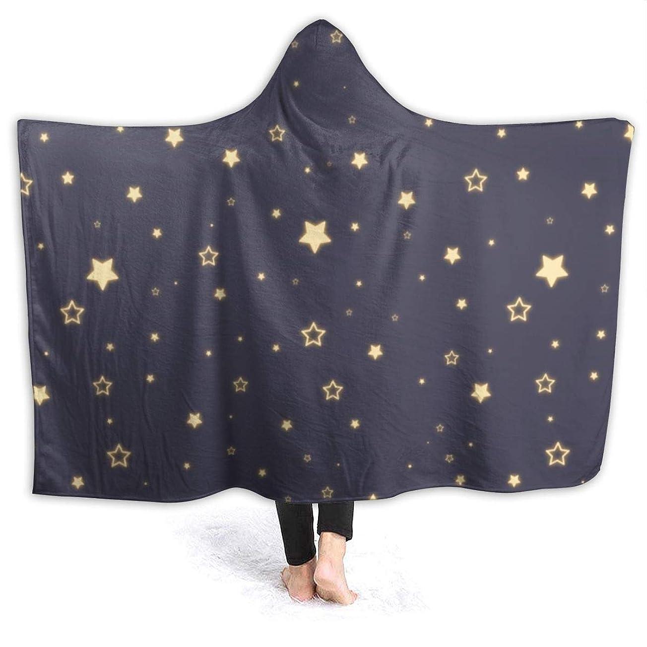 また明日ね液化する年齢Bydeclan 毛布 着る毛布 ブランケット ルームウェア スター 大判 ひざ掛け 肩掛け 着るブランケット フード付き マイクロファイバー あったか 柔らかい 防寒 軽量 丸洗い