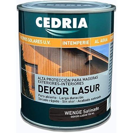 Lasur protector madera exterior al agua Cedria Dekor Lasur 750 ml (Wengé)