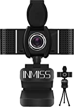 Full HD Webcam 1080P with Microphone Free Tripod Cover Slide - 120° Wide Angle Webcams Streaming USB Web Camera - Pro Comp...
