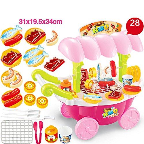Jouets FEI 30 pcs Jouer Coupe Cuisine Alimentaire Pretend Play Set, Plastique Éducatif Partie pour Enfants et Enfants Début Éducation