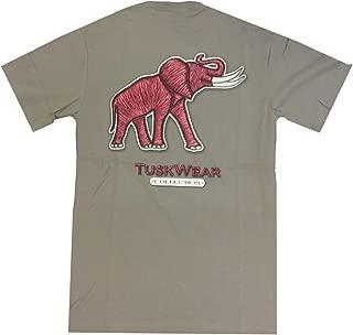 Alabama Crimson Tide Threaded Elephant Adult Short Sleeve Pocket T-Shirt