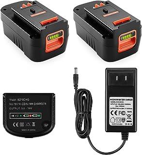 Yabelle - Batería de repuesto de litio de 3,0 Ah para batería Black and Decker de 18 voltios HPB18 HPB18-OPE 244760-00 A1718 FS18FL FSB18 Firestorm de 18 V (cargador incluido)