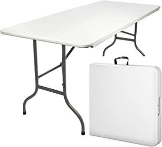 MaxxGarden Table Pliante - Table de Jardin - Table Exterieur - Table Pliable (180 x 74 cm) - Couleur Blanche
