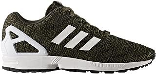 Men's ZX Flux Running Shoes Night Cargo/Core Black/Footwear White 8 M US