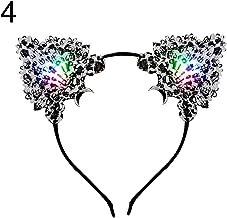 mAjglgE Haarreif mit Spitze,Frauen LED Leuchten Katze Ohren Stirnband Headwear Party Supplies