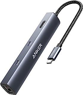 Anker USB C Hub, PowerExpand 6 em 1 USB C PD Ethernet Hub com 65W de entrega de energia, 4K HDMI, 1Gbps Ethernet, USB-C po...