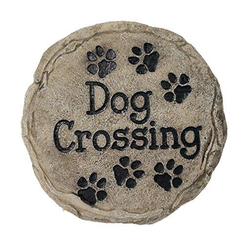 Spoontiques - Garden Décor - Dog Crossing Memorial Stepping Stone - Decorative Stone for Garden