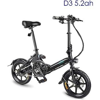 Bicicleta eléctrica plegable para adultos,scooter eléctrico de 14 ...