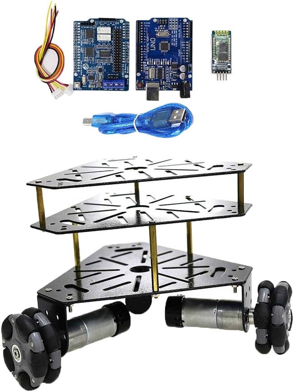 el precio más bajo B Blesiya Máquina Máquina Máquina de Rueda de Metal Control Remoto Kit Coche Robot Equipo de Instalación Electrónica - Negro B  bienvenido a orden