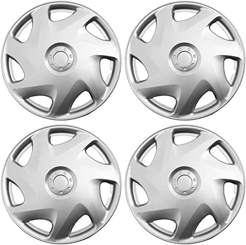 discount Hub-caps for 92-95 Ford outlet online sale Sable (Pack of 4) outlet online sale Wheel Covers 15 inch Snap On Silver outlet sale