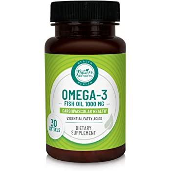 Nature's Instincts Omega-3 Fish Oil 1000mg for Cardiovascular Health Support, 30 Ct