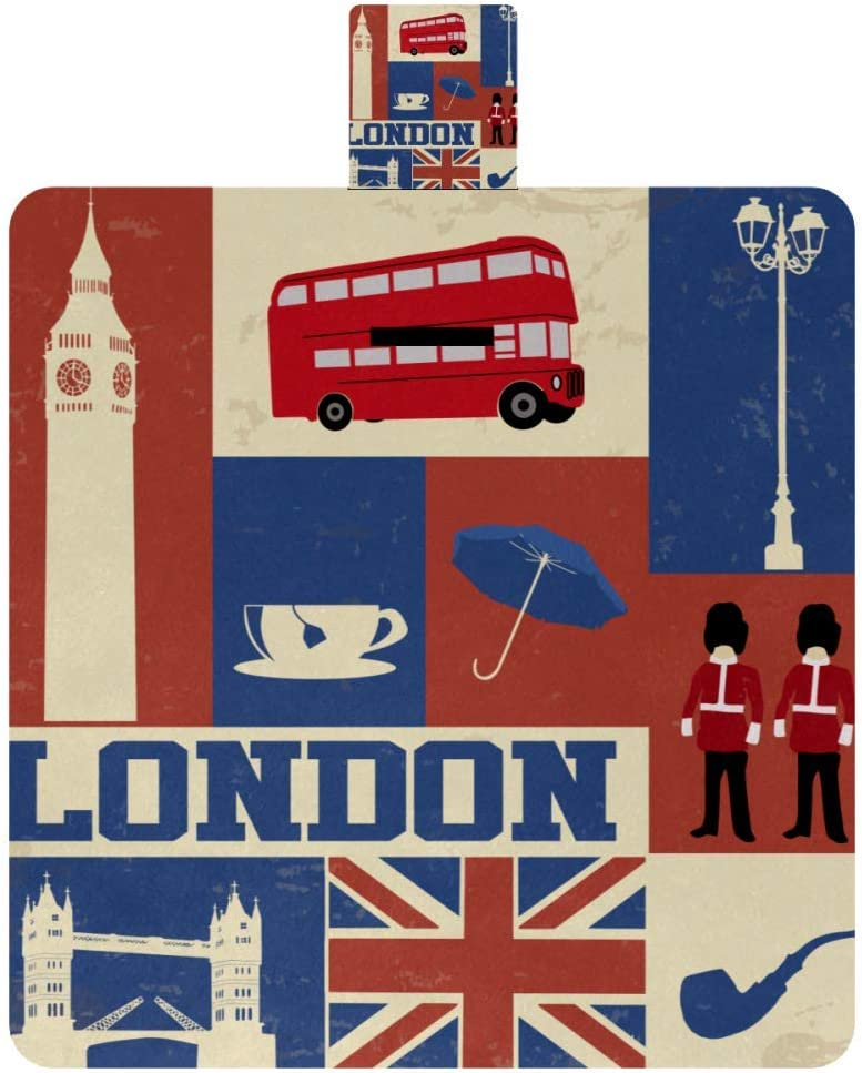 Attention brand MAPOLO Poster with London Symbols and Blanket Limited time sale Picnic Localmarks