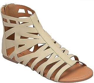 35d1508ea53c3 SODA Girls Cut Out Back Zip Sandals MVE Shoes