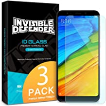 Ringke Tempered Glass Screen Protector Compatible with Xiaomi Redmi 5 Plus Invisible Defender 3-Pack Case Compatible Ultimate Clear Shield, High Definition Quality, 9H Hardness Technology