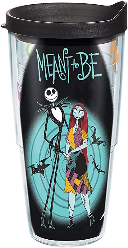Tervis 1267983 Jack And Sally From Disneys Nightmare Before Christmas Adorn A Tumbler Sure To Delight Fans Throughout The Holidays Black