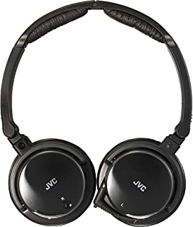 JVC Noise Canceling Headphones with Retractable Cord (Black)