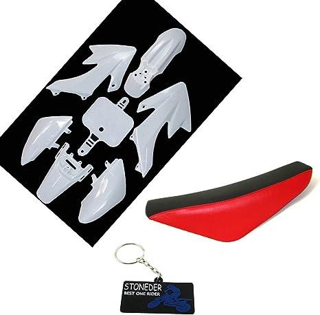 Stoneder Weiß Kunststoff Verkleidung Schwarz Rot Hohe Schaum Sitz Für Crf50 Xr50 Pit Dirt Bike 50 125 160cc Auto
